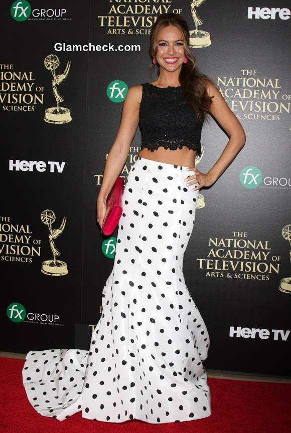 Crop Top With Maxi Skirt Polka Dot Chrishell Stause