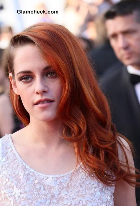 Kristen Stewart Orange Hair at Cannes 2014