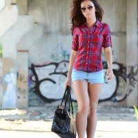 Rock the Summer Sizzle Look in Shorts Teamed with a Plaid Shirt