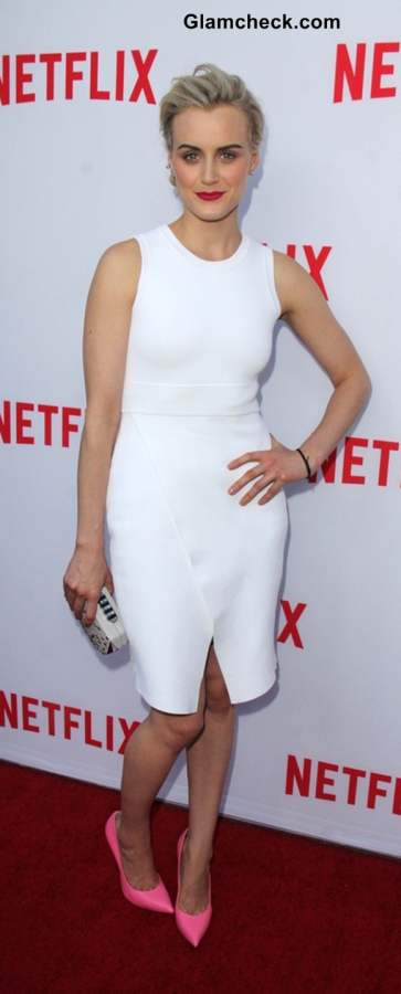 Taylor Schilling In White Shift Dress at Women Ruling TV Event
