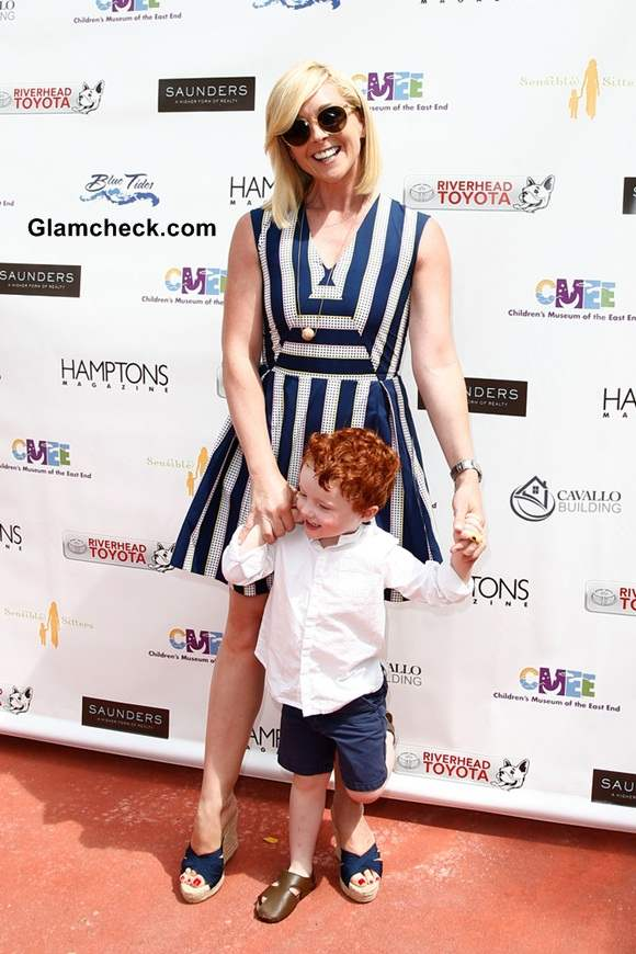 Actress Jane Krakowski with son Bennett