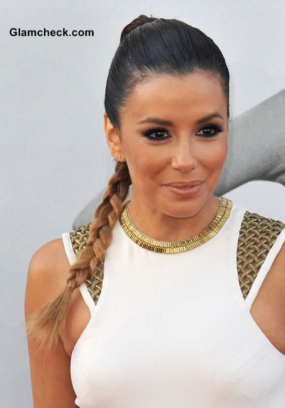 Eva Longoria Sports Bun-braid at AFIs Life Achievement Awards 2014