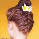 Hairstyle DIY - Front and Back French Braid Top knot