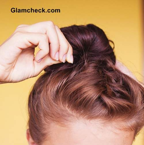 Hairstyle DIY Steps French Braid Top knot