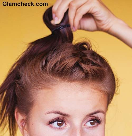 Hairstyle French Braid Top knot