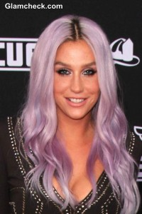 "Kesha flaunting her lilac purple hair at the Planes – Fire & Rescue"" World Premiere"