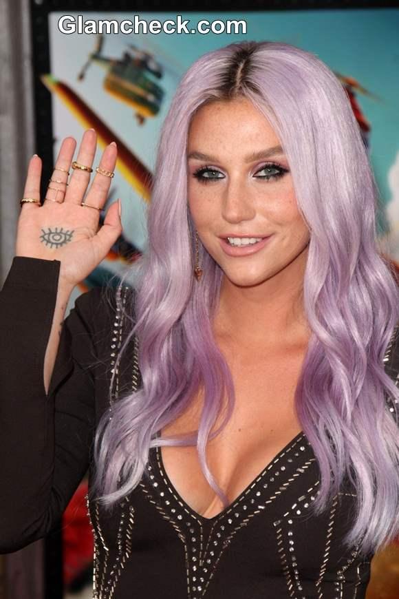 Kesha lilac purple hair