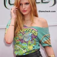 Bella Thorne turns Cute-Rocker-Chic at the Teenage Mutant Ninja Turtles Premiere