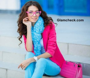 Blue and Pink Colour Combination