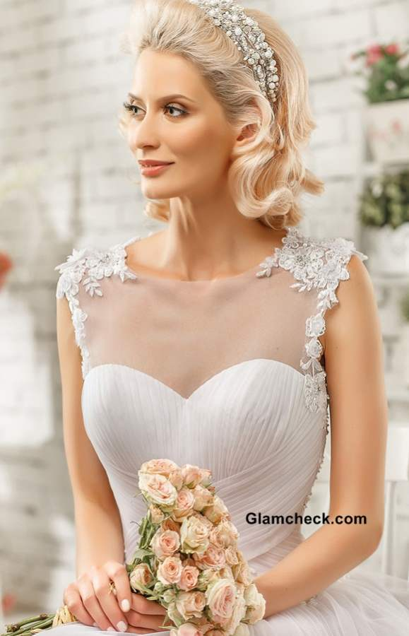 Bridal Dresses Neckline Classic Illusion