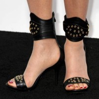 Celeb Footwear - Jackie Stallone Dons an Ankle Strap Stiletto