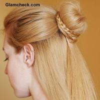 Cinderella Braid Knot bun Hairstyle