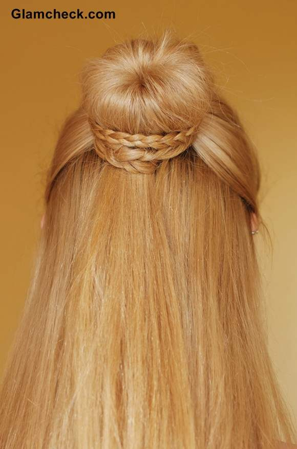 Cinderella Braid Knot bun Hairstyle DIY