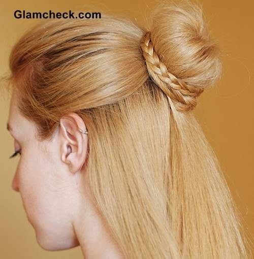 Cinderella Braid Knot bun Hairstyle