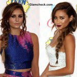 Gorgeous side braids at the 2014 Teen Choice Awards - Shay Mitchell and Nina Dobrev