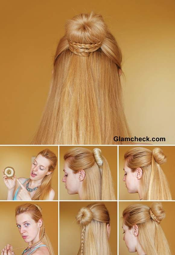 Hairstyle How To Cinderella Braid Knot Bun