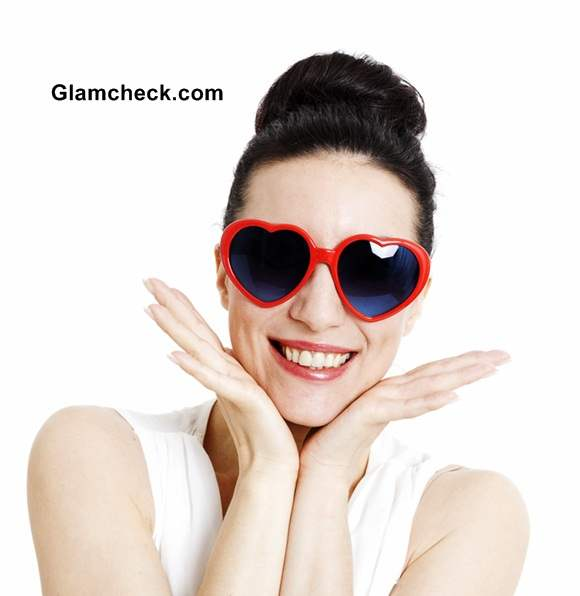 Heart Shaped Retro Sunglasses