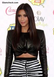 Leather Crop Top – Kim Kadarshian's Edgy Fashion