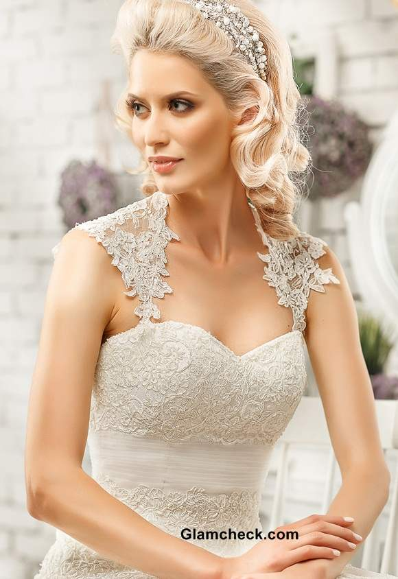 Queen Anne Neckline Bridal Gowns