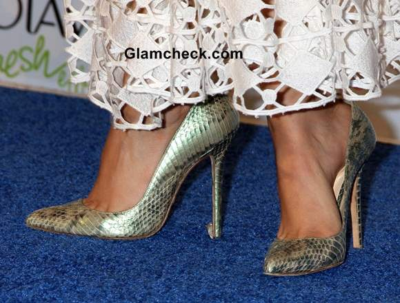 Snakeskin classic heels by Olcay Gulsen Victoria Justice