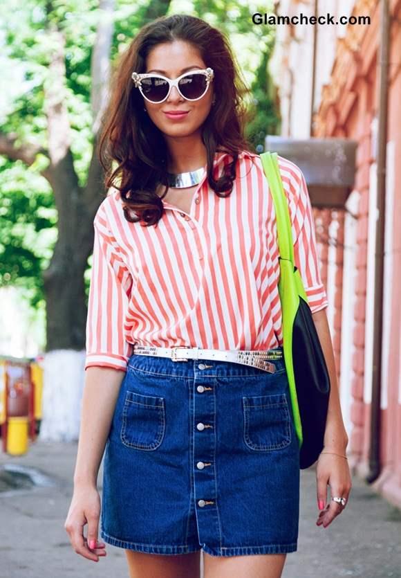 Street style in a Denim Skirt