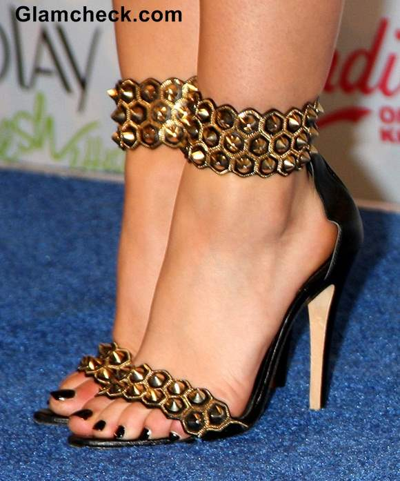 Studded strap heels from Brian Atwood Lucy Hale