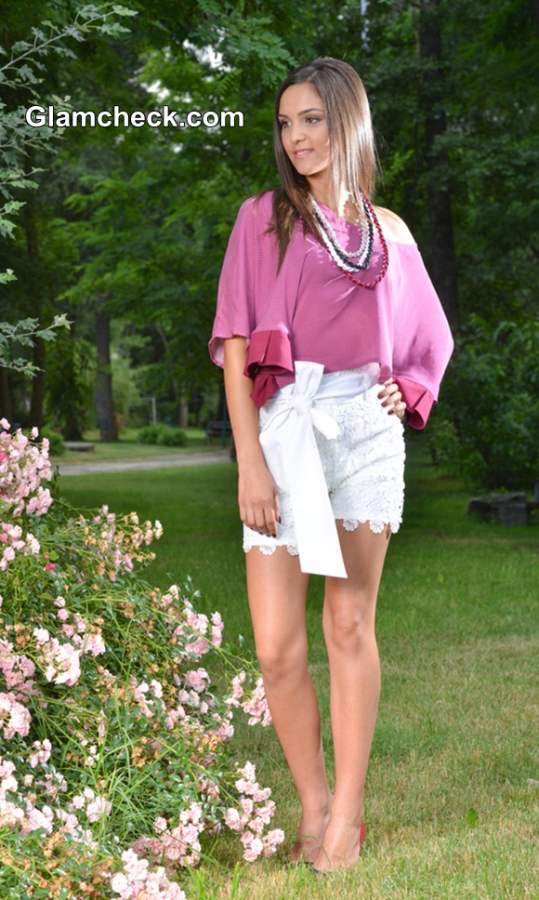 Lace Shorts Playful Picnic Look