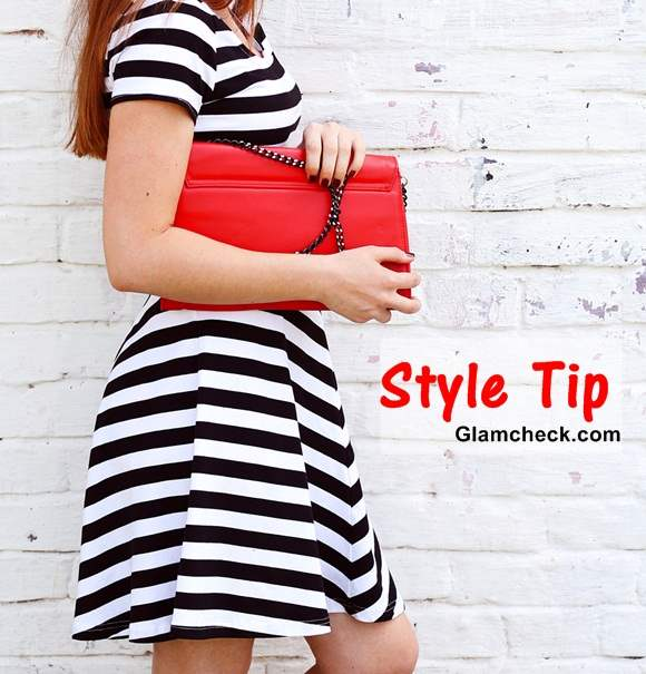 Style Tip - Jazz-up your Black and White Outfit with a Red Clutch