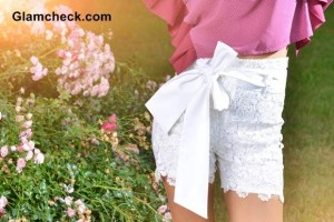 Lace Shorts – Playful Picnic Look