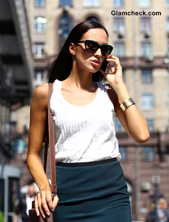 Workplace Fashion White Top