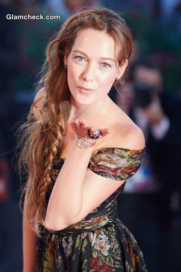 Cristiana Capotondi Sports Gorgeous Side Braid at La Rancon De La Gloire Premiere