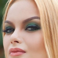 Emerald Green Smokey Eyes Makeup how to