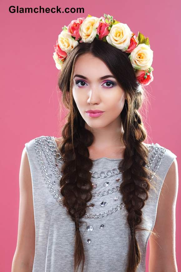 Flower Hairstyle with Braid Bohemian