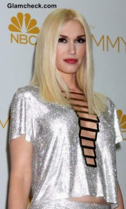Versace Silver Skirt and Top worn by Gwen Stefani