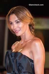 Linda Santaguida Stunning in a Black Gown at 'The Humbling' premiere