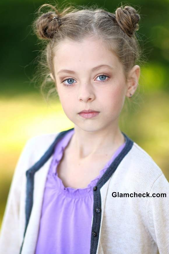 Multiple Mini Buns Hairstyle for Little Girls