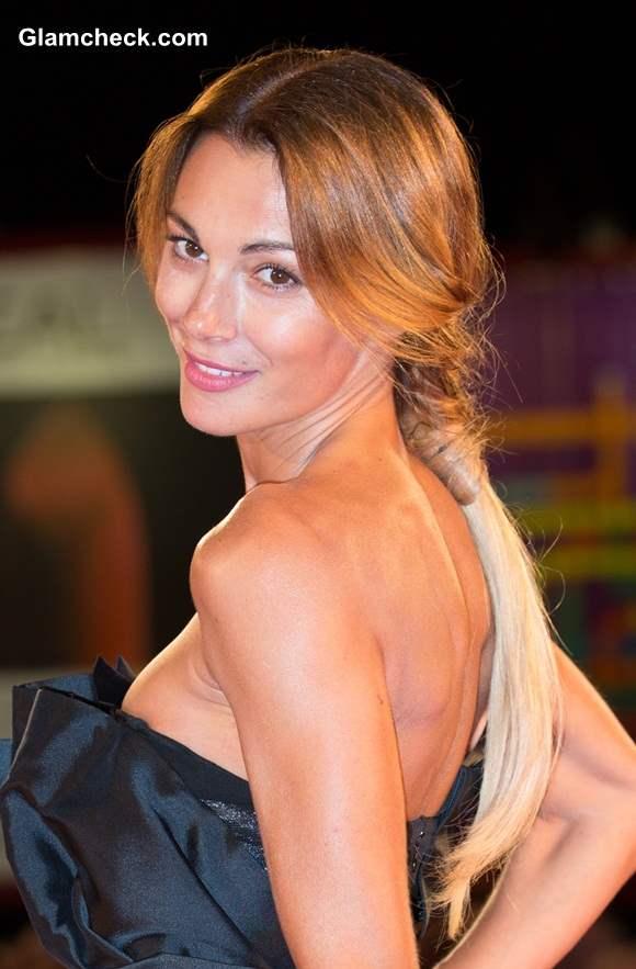 Ponytail Hairstyle Linda Santaguida at The Humbling premiere