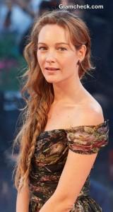 Cristiana Capotondi Sports Gorgeous Side Braid at 'La Rancon De La Gloire' Premiere