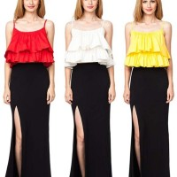 Wearing Ruffled Tops with Long Skirts
