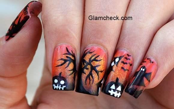 Halloween Nail Art Spooky