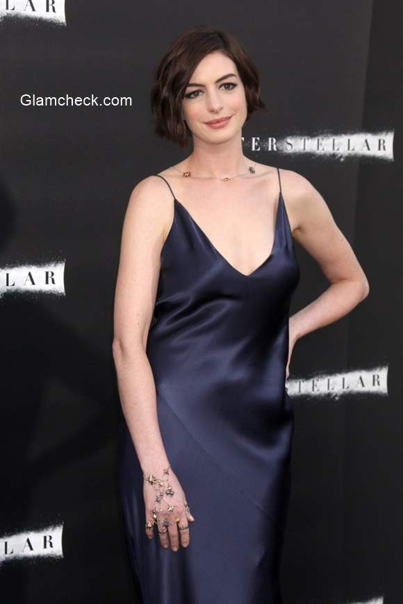 Anne Hathaway at the Interstellar premiere