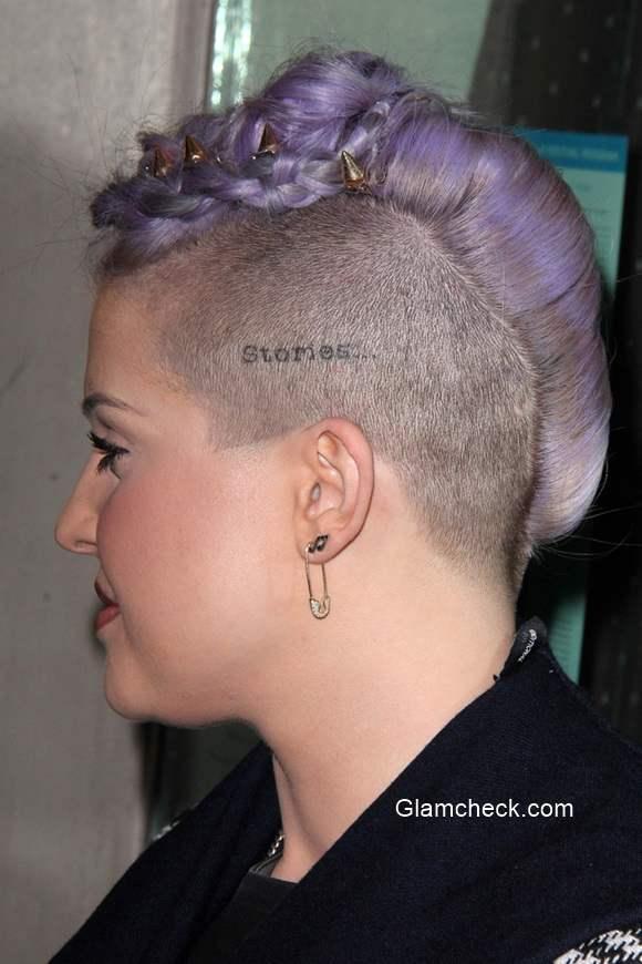 Kelly Osbourne Braided Mohawk Hairstyle 2014