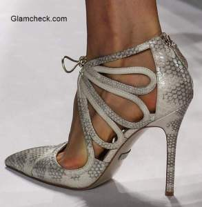 Badgley Mischka Stilettos with Petal Cutout