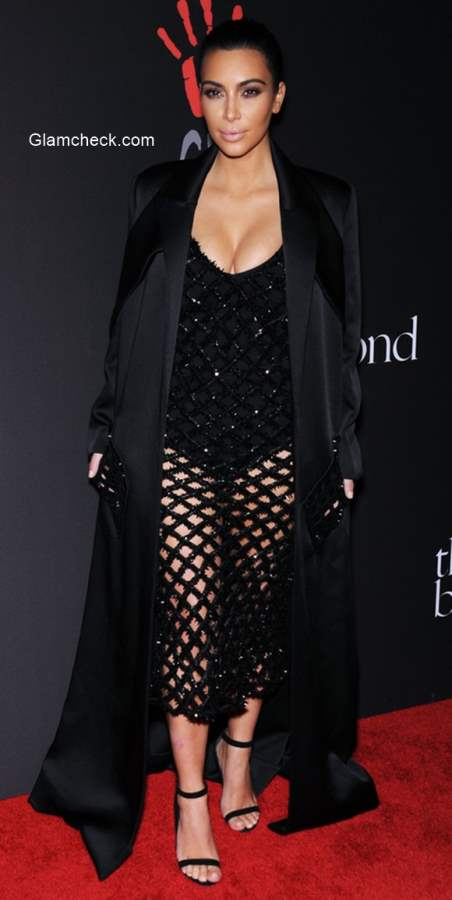 Kim Kardashian in Balenciaga for the First Annual Diamond Ball