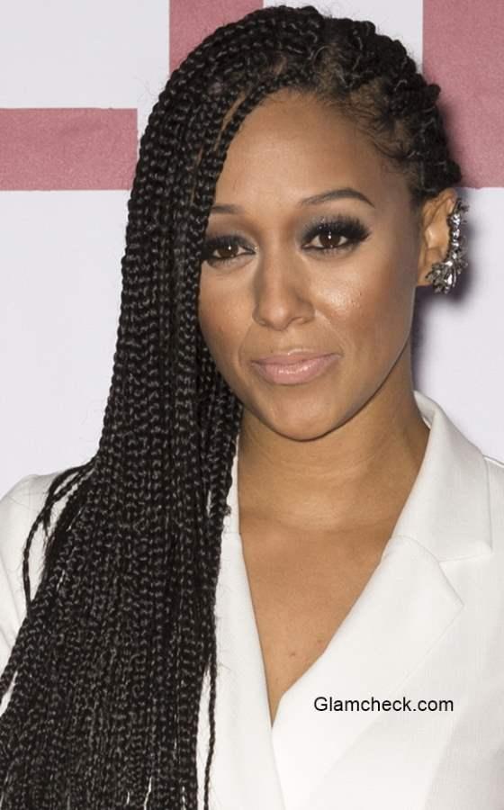 Tia Mowry Corncrow Braids hairstyle at the Selma New York Premiere