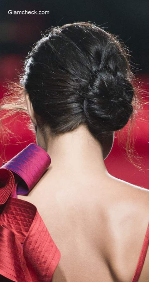 Hairstyle Inspiration for New Year – Elegant  Low Side-Bun