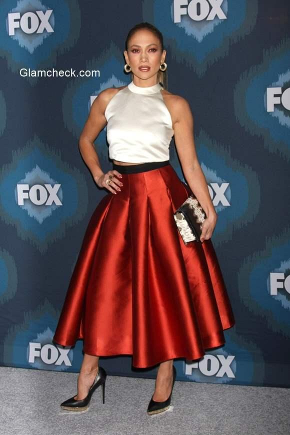 Wearing Bell skirt with a crop top like Jennifer Lopez