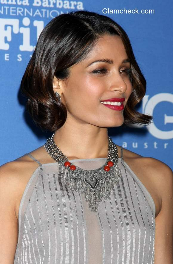 Freida Pinto in Mason by Michelle Mason during the 2015 Santa Barbara ... Freida Pinto