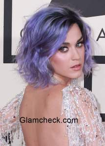 Katy Perry sports lavender Hair Color 2015
