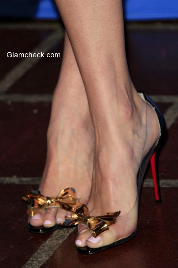 Louboutin bow detailed  heels